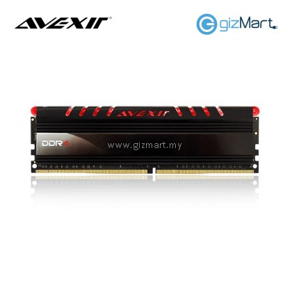 Avexir 16GBX1 DDR4-2400MHz CL16 288-Pin 1.2V Desktop RAM (Red)