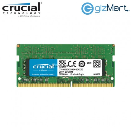 Crucial 8GB DDR4 2400 SODIMM (PC4-19200) CL17 Notebook RAM (CT8G4SFD824A)
