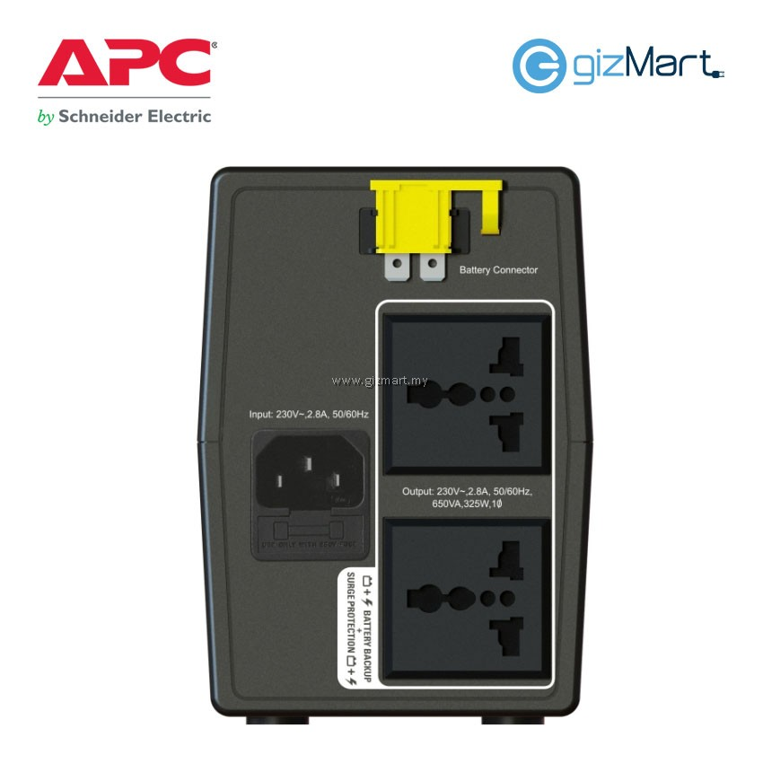 APC 650VA 230V UPS BATTERY BACKUP (BX650LI-MS) | gizMart my