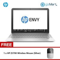HP Envy 13-AB003TU i7-7500U/8GB/256GB/W10 Notebook (Silver) + FREE HP Wireless Mouse