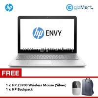 "HP ENVY 15-AS101TU 15.6"" i5-7200/8GB DDR4/1TB/Win10 Notebook (Silver) + FREE HP Wireless Mouse"