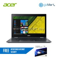"Acer Spin 5 SP513-52N-58QD 13.3"" Laptop Grey (i5-8250U, 8GB, 256GB SSD, W10H, Stylus Pen) + FREE Bitdefender Internet Security"
