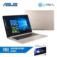 "Asus Vivobook S15 S510U-NBQ174T 15.6"" FHD Laptop Gold (i7-8550u, 4GB, 1TB+128GB, MX150 2GB, W10H) + FREE Bitdefender Internet Security"