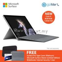 NEW Microsoft Surface Pro - 128GB / Intel Core i5 - 8GB RAM + Type Cover (Platinum)