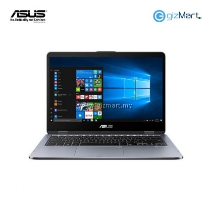 "Asus Vivobook Flip TP410U-FEC026T (I5-8250U, 4GB, 1TB, MX130 2GB, W10) 14"" FHD Touch Laptop-Grey"