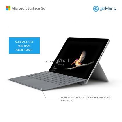 Microsoft Surface Go - 64GB / 4GB RAM + Signature Type Cover (Platinum)