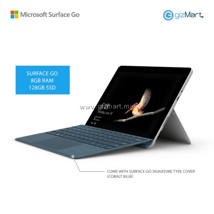 NEW Microsoft Surface Go - 128GB / 8GB RAM + Signature Type Cover (Cobalt Blue)