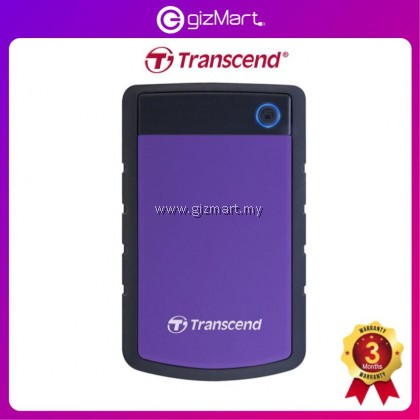 Transcend Storejet 25H3 2TB USB 3.0 SHOCKPROOF Portable Hard Drive - Purple TS2TSJ25H3P