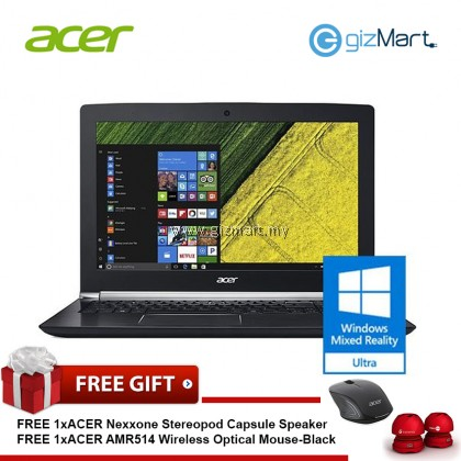 "ACER Aspire V Nitro VN7-592G-7226 15.6"" Laptop-Black (i7-6700HQ, 4GB, 128GB+1TB, Gtx960, Win10)"