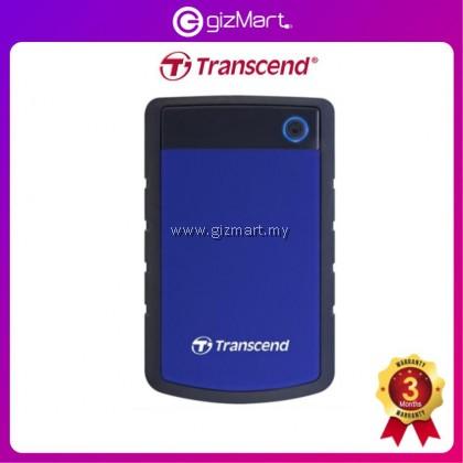 Transcend Storejet 25H3 1TB USB 3.0 SHOCKPROOF Portable Hard Drive - Blue TS1TSJ25H3B