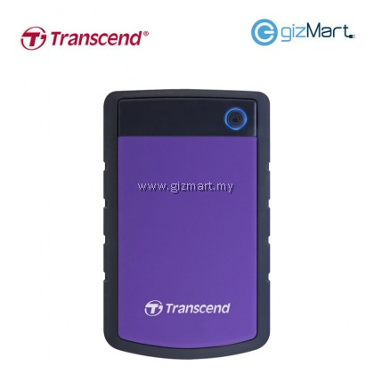 Transcend Storejet 25H3 1TB Usb3.0 Portable Hard Drive-Purple