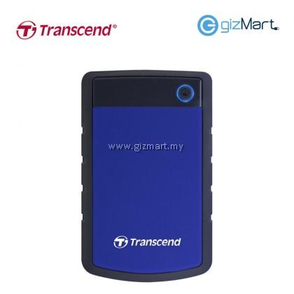 TRANSCEND Storejet 25H3 2TB Usb3.0 Portable Hard Drive-Blue