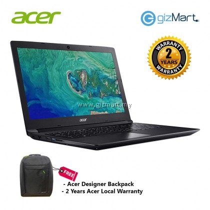 "ACER Aspire 3 A315-41G-R5RJ 15.6"" Notebook-Black (Amd R3-2200U, 1TB, 4GB, Radeon535, Win10)"
