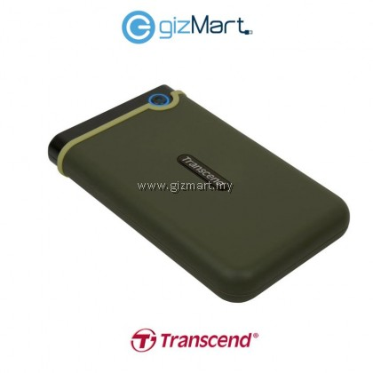 Transcend Storejet 25M3 1TB USB 3.0 SHOCKPROOF Portable Hard Drive - Military Green TS1TSJ25M3G
