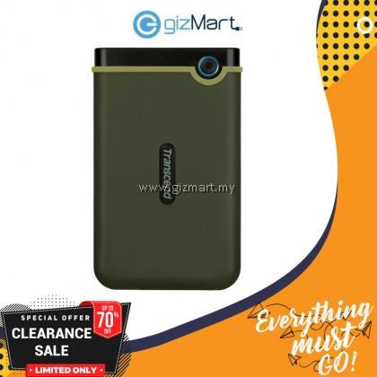 Transcend Storejet 25M3 1TB USB 3.0 Portable Hard Drive - Military Green
