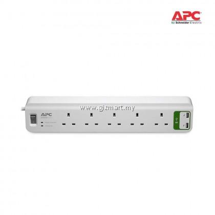 APC Essential SurgeArrest 5 outlets with 5V, 2.4A 2 port USB Charger 230V UK (PM5U-UK)