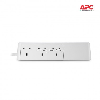 APC Essential SurgeArrest 6 outlets with 5V, 2.4A 2 port USB charger, 230V UK PM6U-UK