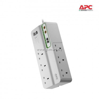 APC Home/Office SurgeArrest 6 outlets with Phone and Coax Protection 230V UK (PMH63VT-UK)
