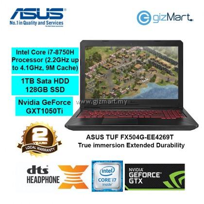 "ASUS TUF FX504G-EE4269T 15.6"" Gaming Notebook-Black (i7-8750H, 1TB+128GB, 4GB, Gtx1050Ti, Win10)"