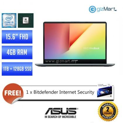 """Asus Vivobook S15 S530U-NBQ326T 15.6"""" Laptop - Gun Metal (i5-8250U, 4GB, 1TB+128GB SSD, MX150, Win10)"""