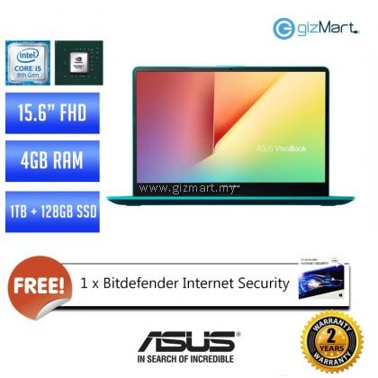 """Asus Vivobook S15 S530U-NBQ327T 15.6"""" Laptop - Firmament Green (i5-8250U, 4GB, 1TB+128GB SSD, MX150, Win10)"""