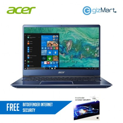 "Acer Swift 3 SF314-54G-52L8 14"" Laptop - Blue (i5-8250, 4GB, 1TB+128GB SSD, MX150, Win10)"
