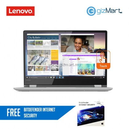 "Lenovo Yoga 530-14IKB 81EK00A5MJ 14"" Laptop - Grey (i5-8250U, 4GB, 256GB SSD, MX130, Win10)"