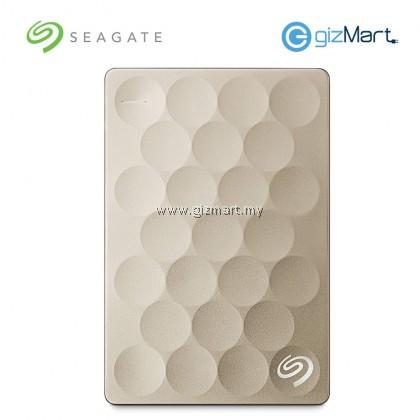 SEAGATE 1TB Ultra Slim Backup Plus HDD-Gold