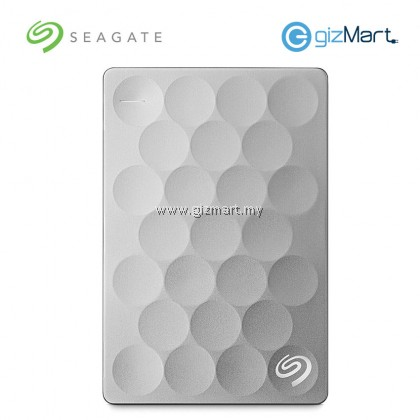 SEAGATE 2TB Ultra Slim Backup Plus HDD-Platinum