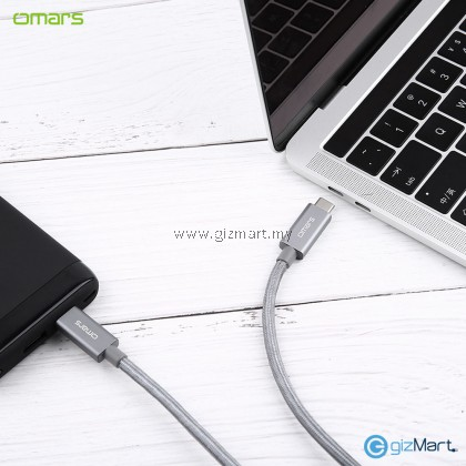 OMARS TCCG2100GY USB 3.1 Type C to Type C 1M Data Cable (Grey)