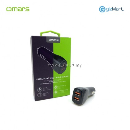 OMARS Quick Charge 3.0 Dual Port USB Car Charger (DCQ33BK)