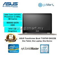 "ASUS Vivobook Flip TP301UA-DW058T 13.3"" Notebook-Gold (i3-6100U, 4GB, 500GB, Win10)"