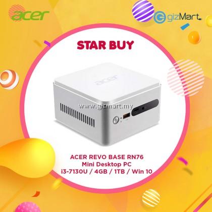 [Demo Unit] ACER Revo Base RN76 Mini Desktop PC (i3-7130U, 4GB, 1TB, Win10)
