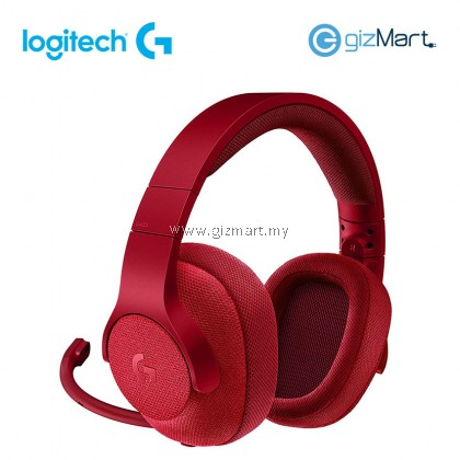 LOGITECH G433 7.1 Wired Surround Gaming Headset-Red (981-000654)