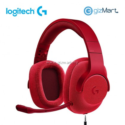 LOGITECH G433 7.1 Wired Surround Gaming Headset-Red