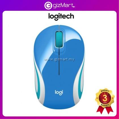 Logitech M187 Wireless Mini Mouse (910-005372) (Palace Blue)