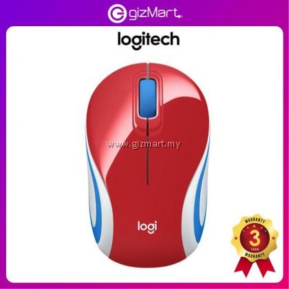 Logitech M187 Wireless Mini Mouse (910-005373) (Bright Red)