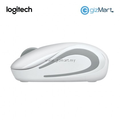 Logitech M187 Wireless Mini Mouse (910-005380) (White)