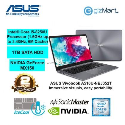"""ASUS Vivobook A510U-NEJ352T 15.6"""" Notebook-Grey (i5-8250U, 4GB, 1TB, Mx150, Win10)"""