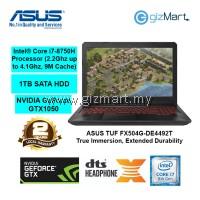"ASUS TUF FX504G-DE4492T 15.6"" Gaming Notebook-Black (i7-8750H, 4GB, 1TB, Gtx1050, Win10)"