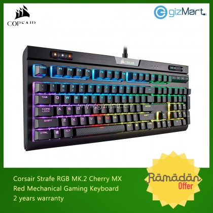 CORSAIR Strafe RGB MK.2 Cherry Mx Red Mechanical Gaming Keyboard