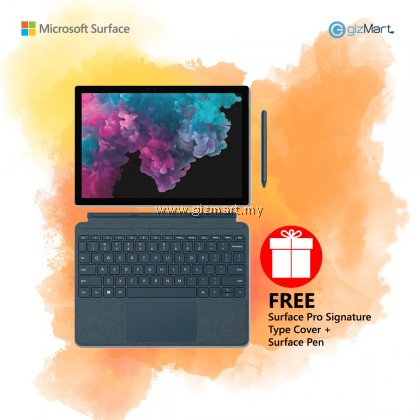 Microsoft Surface Pro 6 i7 / 512GB - 16GB RAM (Platinum) + Type Cover + Surface Pen