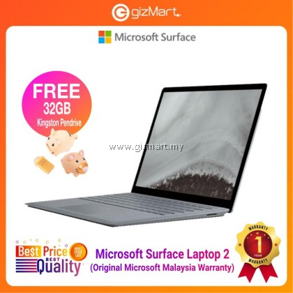 "Microsoft Surface Laptop 2 13.5"" Intel Core i5 / 128GB - 8GB RAM + FREE Kingston 32GB Limited Edition Pendrive"