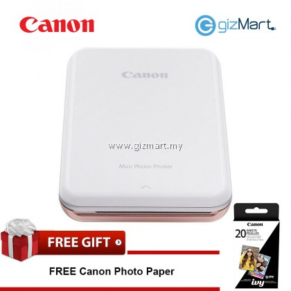 CANON Mini Photo Printer-Rose Gold + FREE Zink Photo Paper