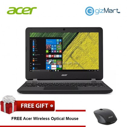 "ACER Aspire ES1-132-C5XN 11.6"" Laptop-Black (N3350, 4GB, 500GB, Win10) + FREE Mouse"