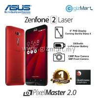 """ASUS Zenfone 2 Laser Smartphone-Red (Msm8939-1.7GHZ, 3GB, 16GB, 13MP, 6"""", LTE)"""