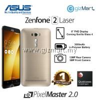 """ASUS Zenfone 2 Laser Smartphone-Gold (Msm8939-1.7GHZ, 3GB, 16GB, 13MP, 6"""", LTE)"""