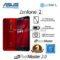 "ASUS Zenfone 2 Smartphone-Red (Intel Z3580-2.3Ghz, 4GB, 64GB, 13MP, 5.5"", LTE)"
