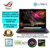 "ASUS ROG Strix Scar II GL504G-MES193T 15.6"" Gaming Laptop (i7-8750H, 16GB, 1TB+256GB, Gtx1060, Win10)"