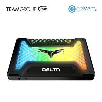TEAMGROUP 250GB T-Force Delta RGB Solid State Drive-Black
